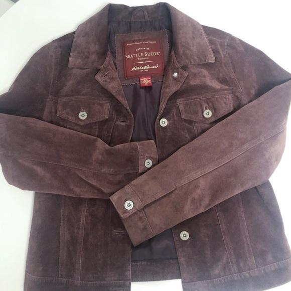 Eddie Bauer Jackets & Blazers - **must go!** Genuine suede jacket
